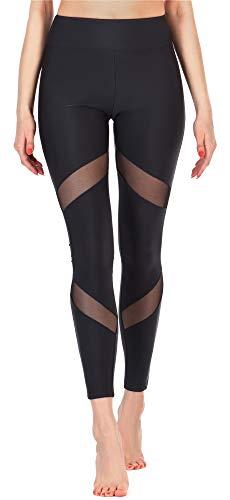 Merry Style Damen Lange Leggings Fitnesshose MS10-233 (Schwarz, S)