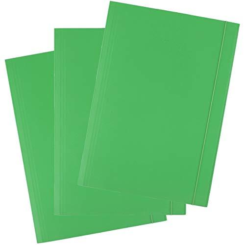 D.RECT, cartella portadocumenti in cartone, con elastico, 300 g, 25 pezzi verde