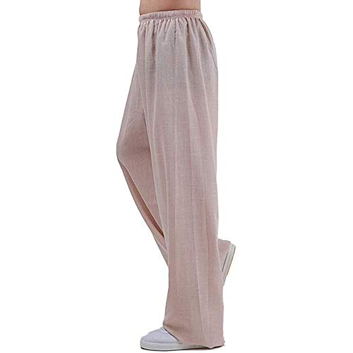 GHJUH Tai Chi Pantalones para Mujeres y Hombres Artes Marciales Kung fu Pantalones Suave cmodo Yoga Pantalones de Yoga Transpirable Zen meditacin ala Tradicional Chun