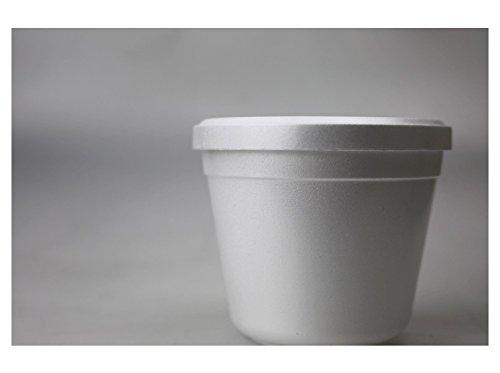 Styroporbehälter 100St - 600St Styroporbecher Fc12 Isolierbehälter weiss 340ml, Wunsch:100 Stück