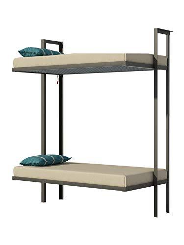 Folding Bunk Bed Plans DIY Bedroom Furniture Kids Adult Children Build Your Own Bunkbed