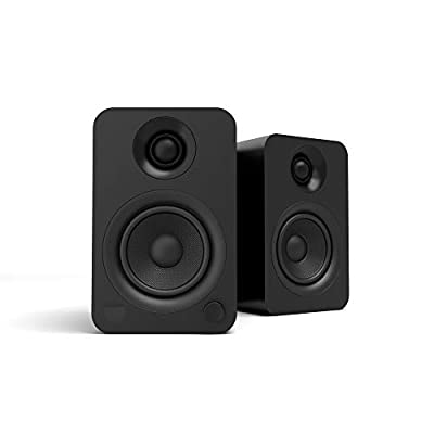 Kanto YU 140W Powered Bookshelf Speakers with Bluetooth 4.2 and RCA Input | Features Signal Detection and Auto Stand-by | Matte Black from Kanto