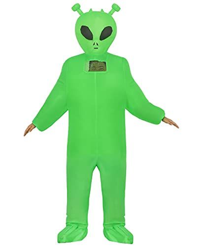 Inflatable Alien Costume Fancy Dress Halloween Blow up Costumes Adult Kids (Green Alien Child)