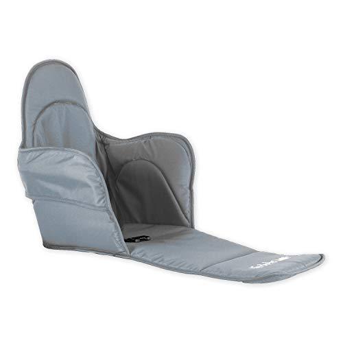 Holzfee Sitzpolster Sitzauflage Zubehör für Babyschlitten Kinderschlitten Piccolino mit Farbauswahl (City-Grau)