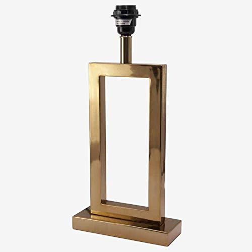 Better & Best 2171057 tafellamp, metaal, rechthoekig, groot, goudkleurig
