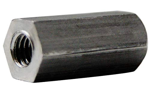 """Small Parts 142406HFA Aluminum Female Threaded Hex Standoff, 1/4"""" Hex Size, 1-1/2"""" Length, 6-32 Thread Size (Pack of 25)"""