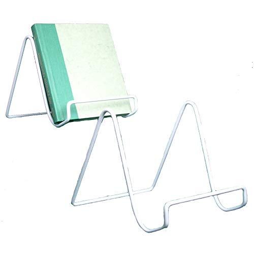 Wire Easel Plate Stands Display Holder - Sturdy White White Metal Stands - 6 Inch - Pack of 2