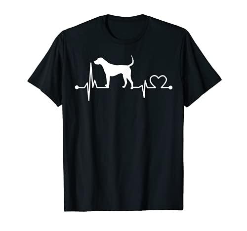 English Foxhound Heartbeat - Regalo divertido para mascotas para niños y mujeres Camiseta