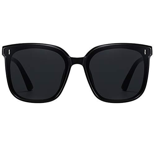 H HELMUT JUST Gafas de Sol para Mujer Cuadrada Grandes Con Montura Protección UV400