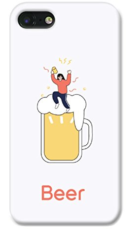 casefit Illustration iPhone 7Fall, iPhone 8Schutzhülle für Frauen, Blume, Muster, (Bier weiß)