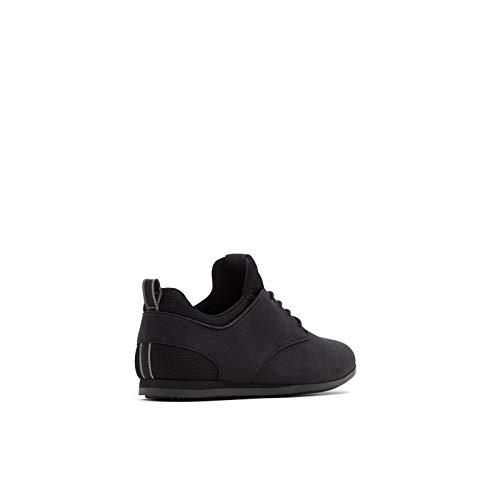 ALDO Men's Preilia Casual Sneaker, Black Smooth, 9.5