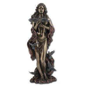 Pacific Giftware Aphrodite (Venus) Greek Roman Goddess of Love Statue, Real Bronze Powder Cast 12-inch Sculpture