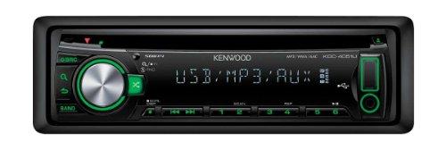 Kenwood KDC-4051UG CD-MP3-Tuner (Front-USB und AUX-In) schwarz mit grüner Tastenbeleuchtung