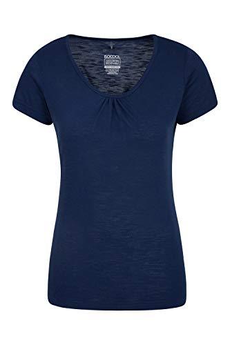 Mountain Warehouse Agra Camiseta para Mujer - Ligera, Secado rápido, de Verano Transpirable, Absorbente, para Deportes al Aire Libre, Senderismo y Uso Informal Azul Marino 36