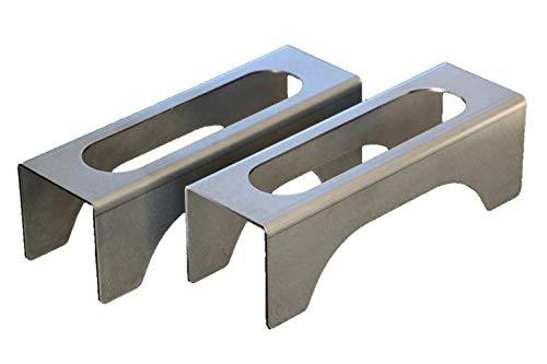 Chenets ultra-compacts pour poêles et inserts, design moderne et épuré « MINI »