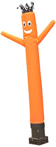 LookOurWay Air Dancers Inflatable Tube Man Complete Set with 1/4 HP Sky Dancer Blower, 6-Feet, Orange