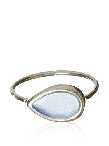 Córdoba Jewels | Anillo en Plata de Ley 925. Diseño Gota Agua Marina
