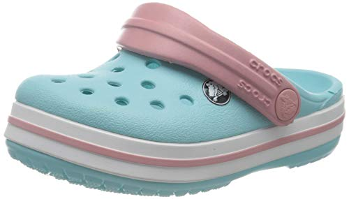 crocs Unisex-Kinder Crocband K Clogs, Blau (Ice Blue/white), 27/28 EU