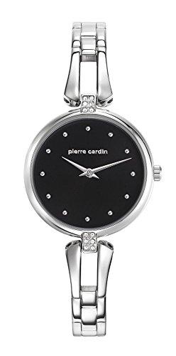 Pierre Cardin Damen Analog Quarz Uhr mit Edelstahl Armband PC107582F01