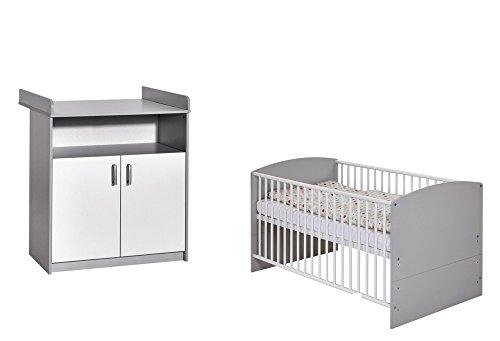 Schardt 10 513 46 00 Sparset 2 - teilig Classic Grey bestehend aus, Kombi - Kinderbett, 70x140 cm
