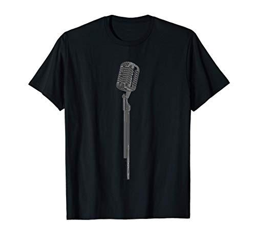 Soporte de Micrófono Cuadrado Música Cantar Comedia Camiseta