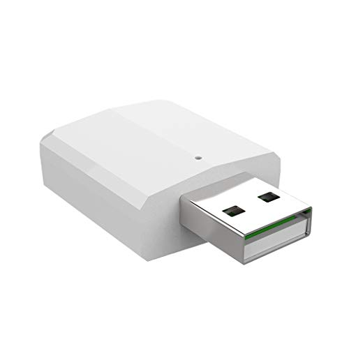 balikha Adaptador de Transmisor/Receptor de Audio 3 en 1 USB Bluetooth 5.0 para 1 Pieza - Blanco