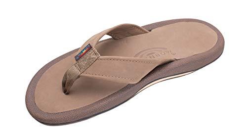 Rainbow Sandals Men's Navigator Premier Leather Orthopedic Foot Bed w/Tapered Strap, Dark Brown, Men's 8 D(M) US