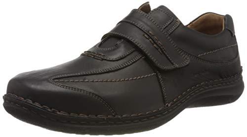 Josef Seibel Alec Herren Low-Top Sneaker   Comfort Schuhe aus Nappaleder -Schwarz (600 schwarz),43 EU