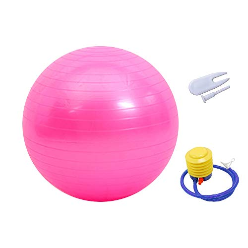 SONSYON Fitness Gerät - Gymnastikball Pilates Ball Maximalbelastbarkeit bis 50-200kg, für Core Strength Beckenübungen, Rosa-6, 95CM