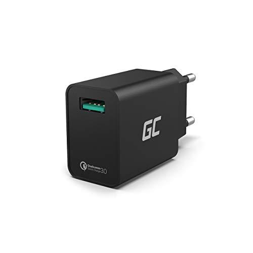 Green Cell 18W USB Alimentatore da Muro con Ricarica Rapida Quick Charge 3.0 Caricabatterie per Apple iPhone 6 6s 7 8 X SE iPad Samsung Galaxy A5 A6 J3 J5 J7 S6 S7 S8 S9 Note 8 9