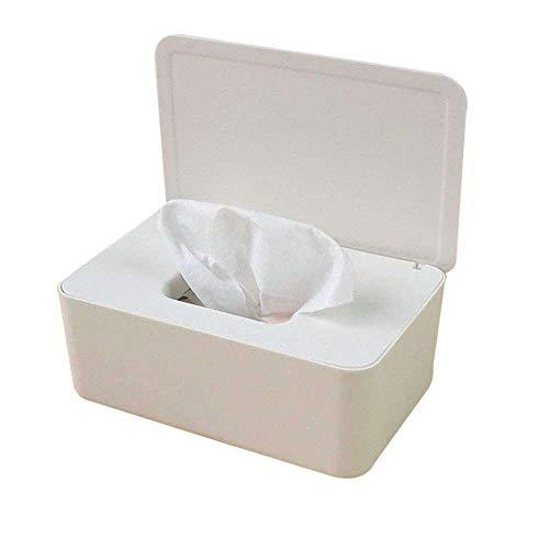 Yuyanshop Caja de almacenamiento de pañuelos para toallitas húmedas con tapa para oficina en casa