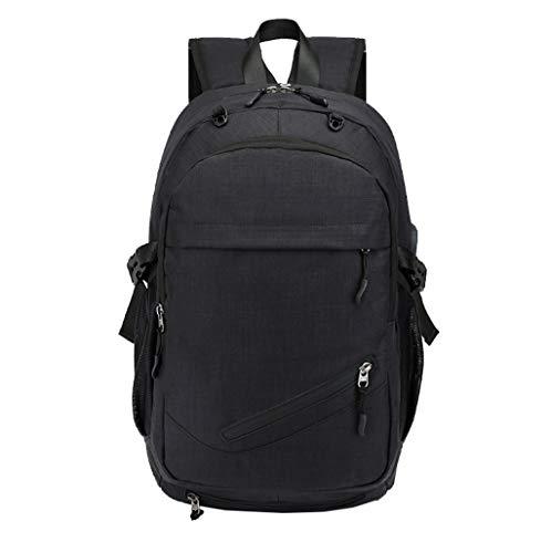Bolsa de viaje de gran capacidad impermeable para estudiantes de viaje, mochila de baloncesto, mochila de carga USB, mochila inteligente, tela Oxford duradera, carga más cómoda de objetos pesados y
