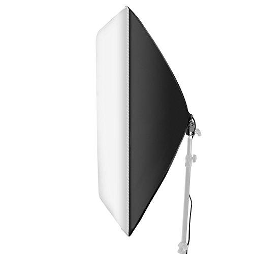 Neewer 24×24 Pulgadas/60×60 Centímetros Cable Estudio Softbox Difusor con E27 Zócalo para Lámpara…