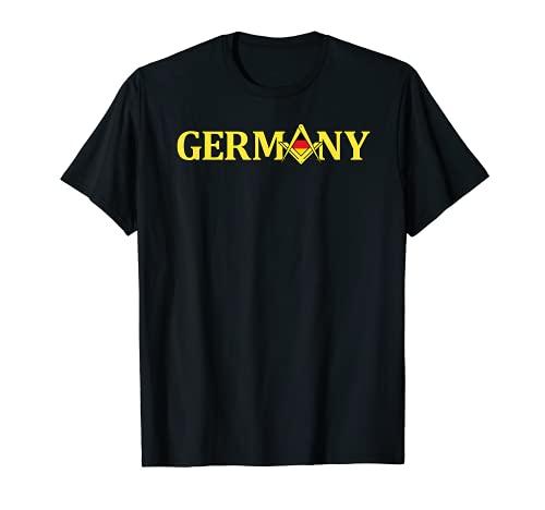 Masonic Shirt Germany Freimaurer Square & Compass Freemason