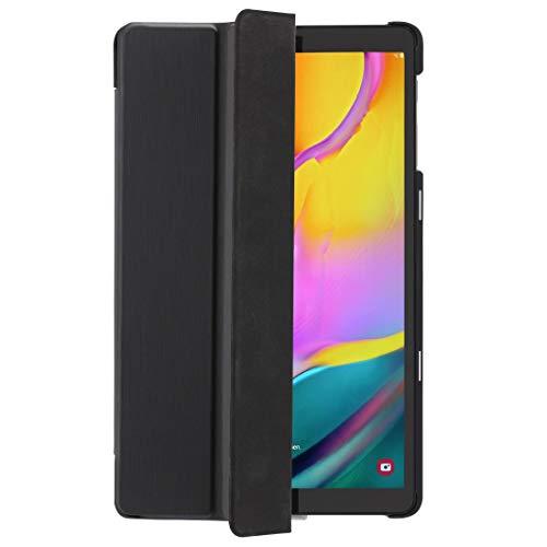 Hama Hülle für Samsung Galaxy Tab A7 10,4 Zoll von 2020 (aufklappbares Hülle für Samsung Tablet, Schutz-Hülle mit Standfunktion, schwarze Rückseite, magnetisches Cover) schwarz