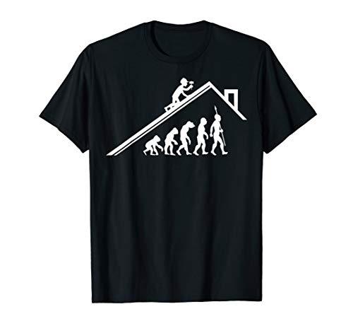 Dachdecker Handwerker Zimmermann Evolution Bau Fun T-Shirt