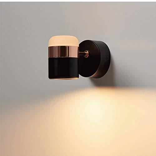 Lámpara de pared Lámpara de pared de Rocker Moderna, escoce de pared giratoria, para dormitorio, sala de estar, cafetería, hotel, pasillo corredor Lámpara de pared para interiores ( Color : White )