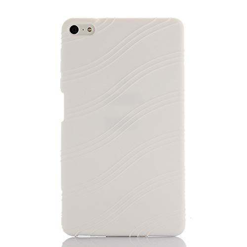 Oneyijun Blanco Suave Silicona Piel Bolsa Proteccion Caso Protector Cubrir Funda para Huawei MediaPad M2 Lite PLE-703L 7.0 Pulgadas Tableta