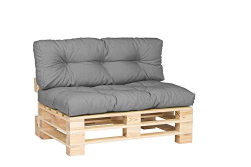 Cuscini per mobili in pallet trapuntati e imbottiti, per divani, per interni ed esterni, per salotto, terrazza, giardino, ampia scelta di colori e dimensioni