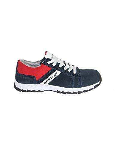DUNLOP Zapato de Seguridad S3 Azul de Piel de Ante Repelente al...