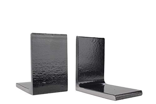 Zware metalen boekensteunen zwart