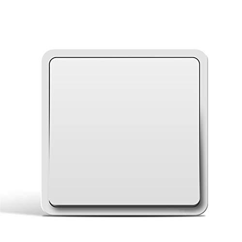 Foicags 10A Interior Decoración Ligera Blanco Blanco Interruptor de Rocker Incorpore Panel de control de la pared Interruptor de la luz de la pared Minimalista Minimalista Interruptor de Rocker 86 Tip