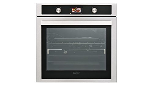 SHARP KS-70S50ISS-EU Einbau Backofen / 78 L / 150 Automatikprogramme / farbiges LCD-Display / 9 Beheizungsarten / Katalytische Reinigung / Dampfreinigung / Edelstahl mit AntiFingerprint-Beschichtung
