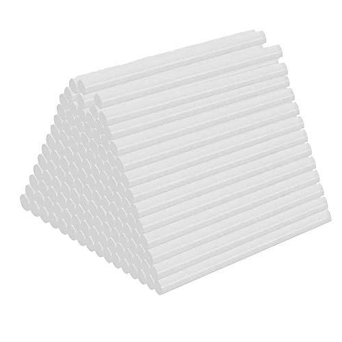 120 Piezas Pegamento Termofusible, Palos de Pegamento Transparente, 7X100mm Manualidades Barras Silicona...