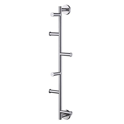 KES Stainless Steel Coat Hook Multi-Function Towel/Robe Clothes Hook for Bath Kitchen Garage Heavy Duty Contemporary Style Wall Mounted, Brushed Finish, BTH204-2