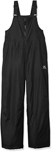 ZeroXposur Boys Snow Pants, Skiing and Snowboarding Water Resistant Boys Snow Bibs Overall, Black, LGE-14/16