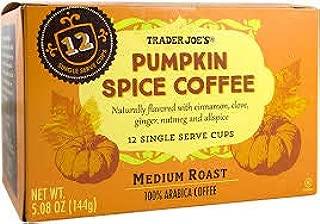 Trader Joe's Pumpkin Spice Coffee Medium Roast 12 Single Serve per box (3 Boxes)