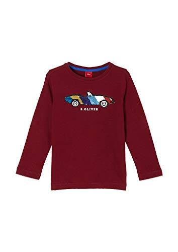s.Oliver Jungen Jerseyshirt mit Wendepailletten Dark pink 140.REG