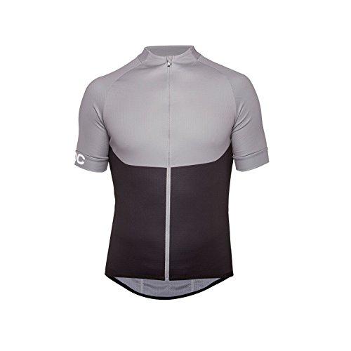 POC Essential XC Zip Tee - Maglietta da Uomo, Uomo, T-Shirt, 52830, Grigio Acciaio, S