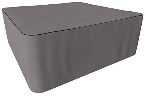 SORARA Housse de Protection Hydrofuge pour Table Carré | Gris | 255 x 255 x 90 cm